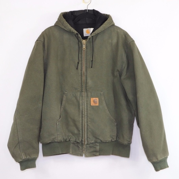d4f5e10fd9 Carhartt Jackets & Coats   Vintage Lined Canvas Jacket Green Medium ...